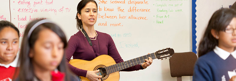 Sacred Heart Teacher and Students