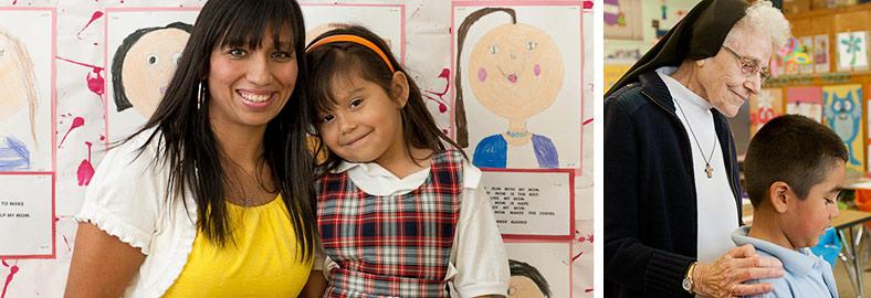 Sacred Heart Teacher and Student